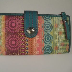 Fossil Leather Multi Color Wallet